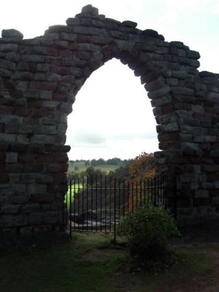 Hawkstone through the Grotto Arch