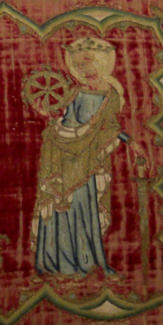 St Catherine V&A embroidery